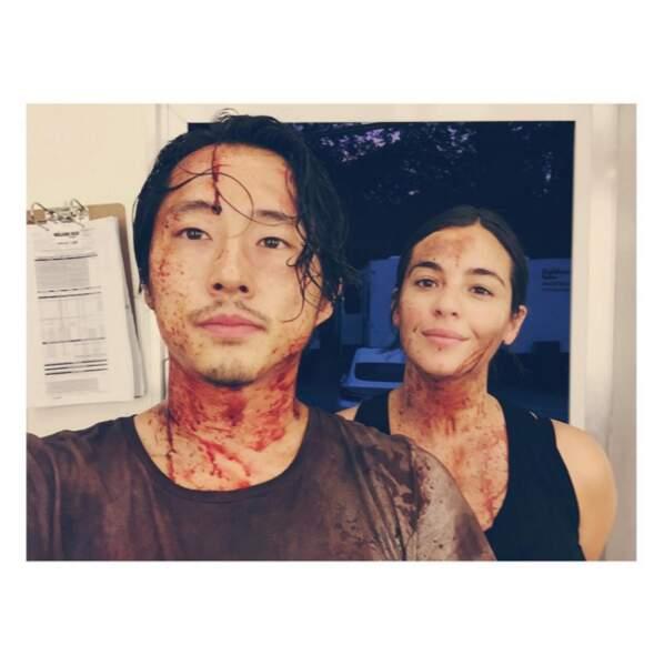 Giclée de sang pour les prochains scènes de The Walking Dead. Bon, on s'en doutait.