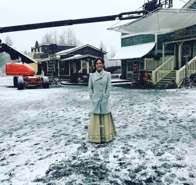 Erin Krakow adore partager sur Instagram des photos du tournage