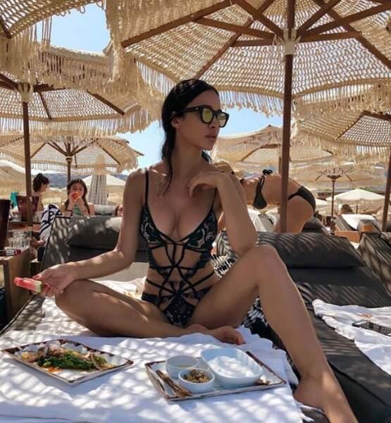 Un peu de sexy : Leila Ben Khalifa était sublime à Mykonos.