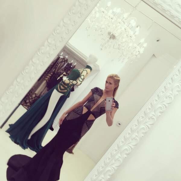 Cette robe sublime portée par Paris Hilton.