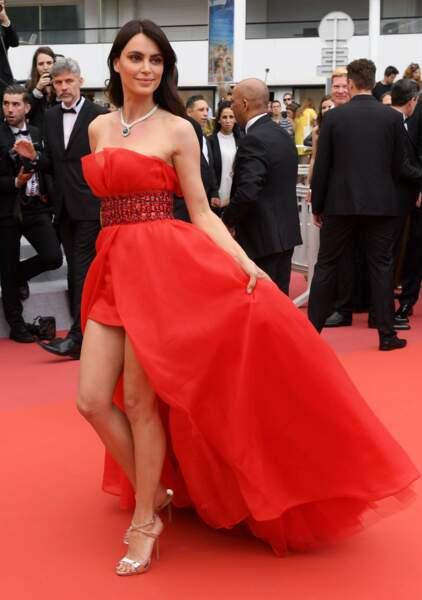 Catrinel Marlon, top model roumain, a opté pour une relative sobriété
