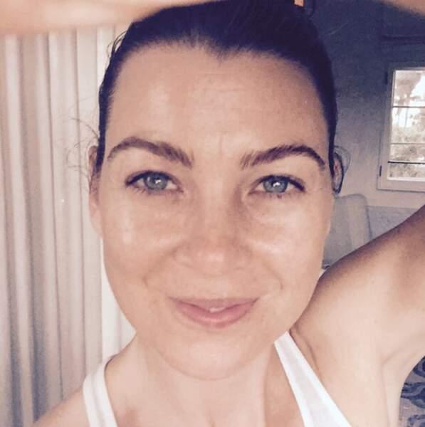 Ellen Pompeo sans maquillage