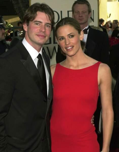 Jennifer Garner et son précédent mari Scott Foley en 2002