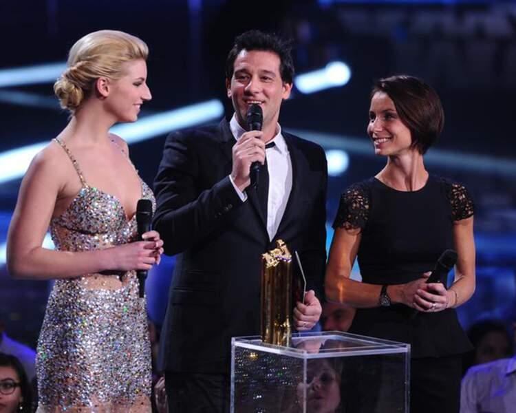 Nadège, la gagnante de Secret Story, et Jennifer Lauret avec Titoff, avant leur grand plongeon dans Splash sur TF1.