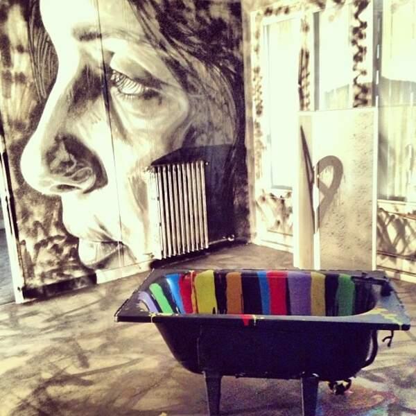 Quand la salle de bain se transforme en oeuvre d'art...