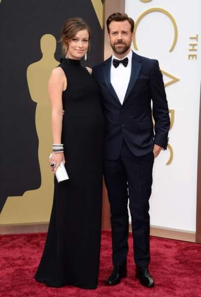 Olivia Wilde, enceinte, au bras de son chéri Jason Sudeikis ! L'un des couples les plus glamour du tapis rouge