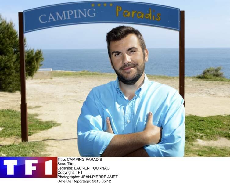 Depuis 2006, Laurent Ournac incarne Tom Delormes dans Camping Paradis, sur TF1