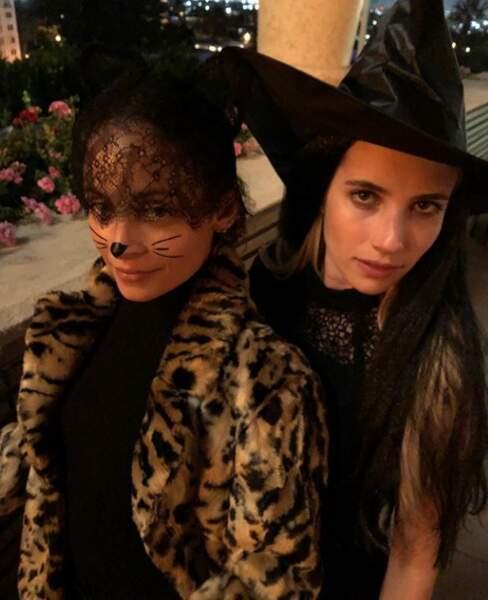 Emma Robert fête Halloween comme AHS