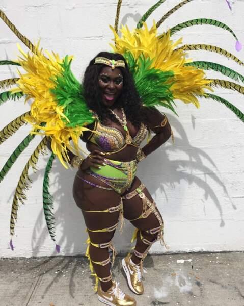 Danielle Brooks était elle aussi en costume, mais pour le défilé West Indies de New York !