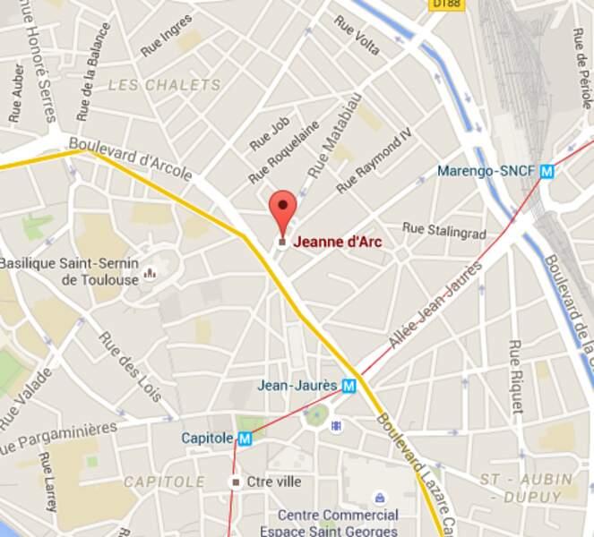 Jeanne d'Arc, ligne B du métro toulousain.