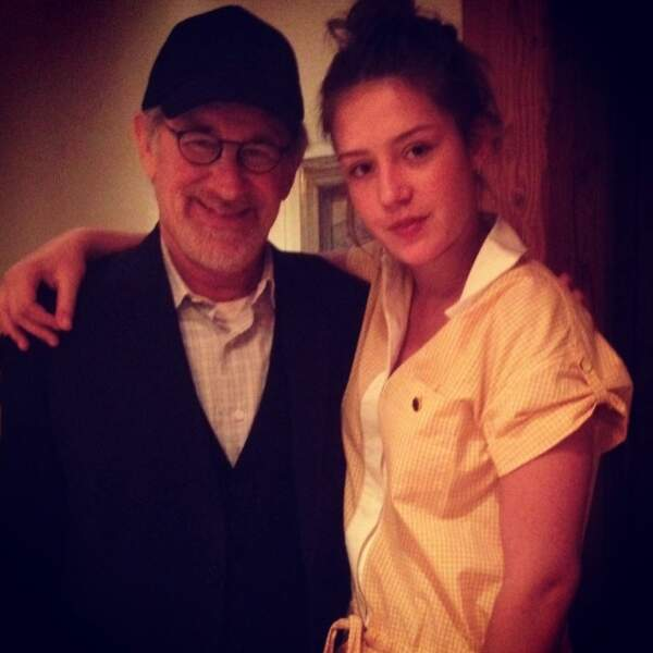 Ou encore avec MONSIEUR Steven Spielberg. Quelle classe !