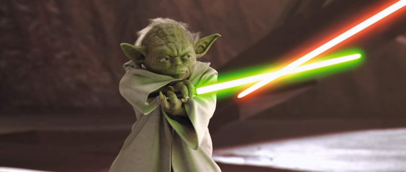 Le sabre vert des Jedi, il le manie avec une dextérité de tous les instants