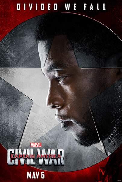 T'Challa alias Black Panther (incarné par Chadwick Boseman)