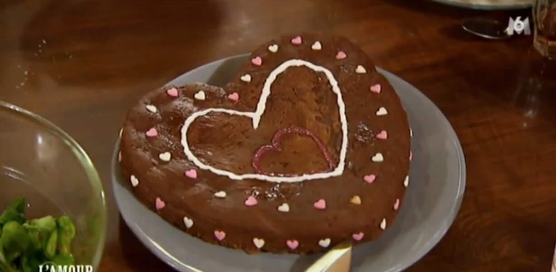 Le gâteau coeur d'Aline vous aimez ? En tout cas, le message est passé !