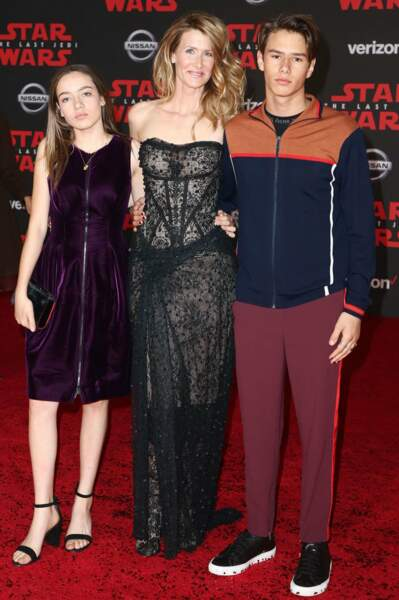 L'actrice Laura Dern, petite nouvelle dans la saga Star Wars, et ses enfants
