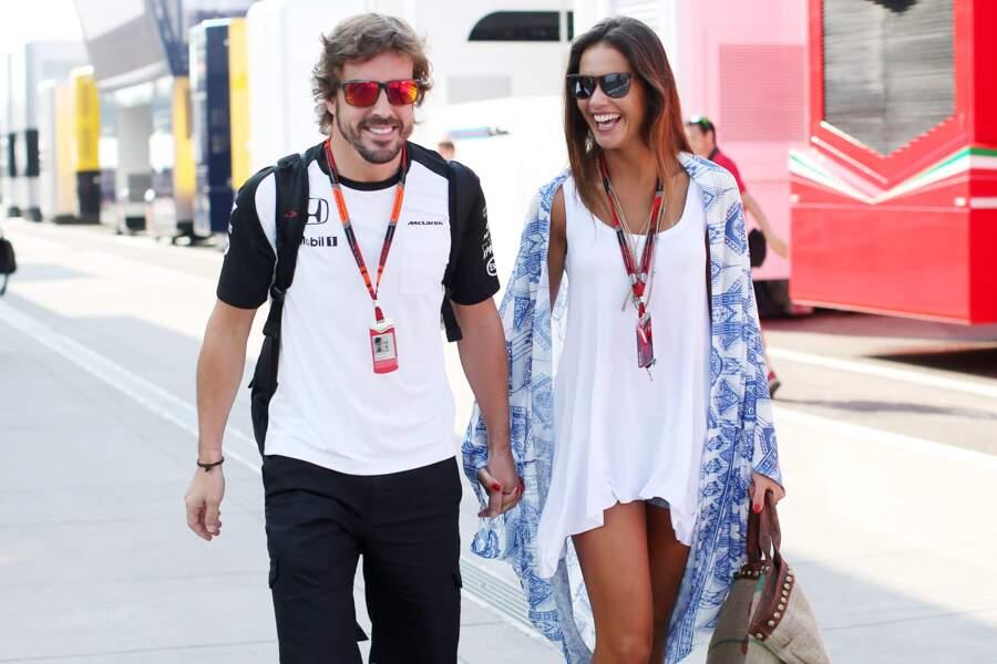 Fernando Alonso et sa compagne, la présentatrice télé espagnole Lara Alvarez