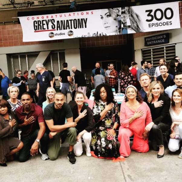 Toute l'équipe de Grey's Anatomy était réunie pour l'occasion