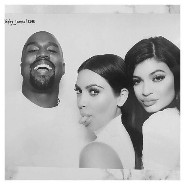 Kanye West est bien en forme sur cette photo.