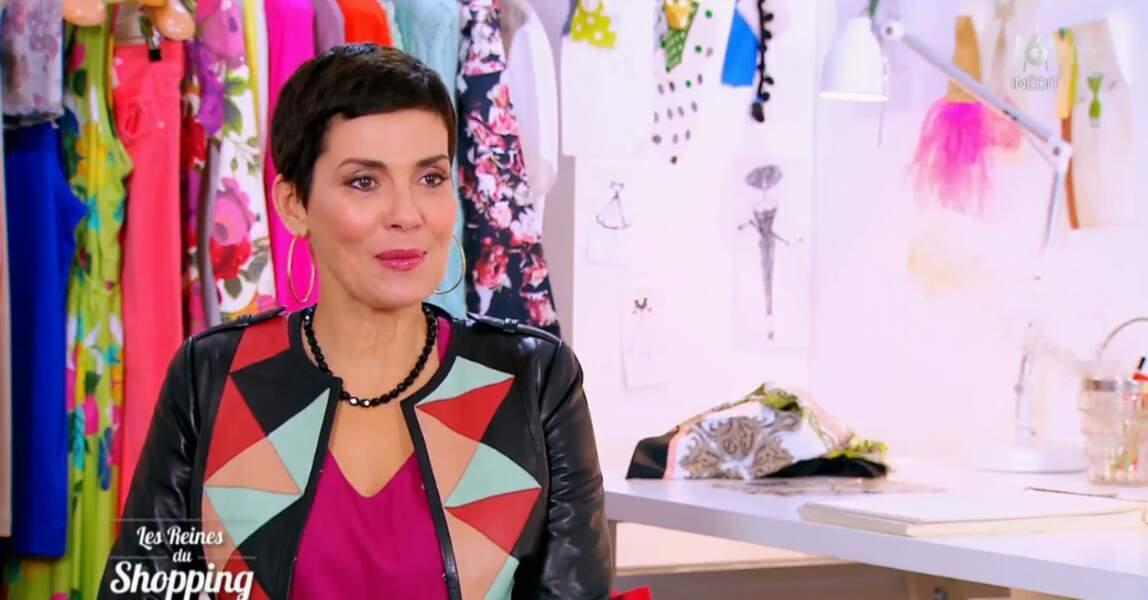 La reine du staïle, Cristina Cordula a encore frappé : très jolie, la veste géométrique !