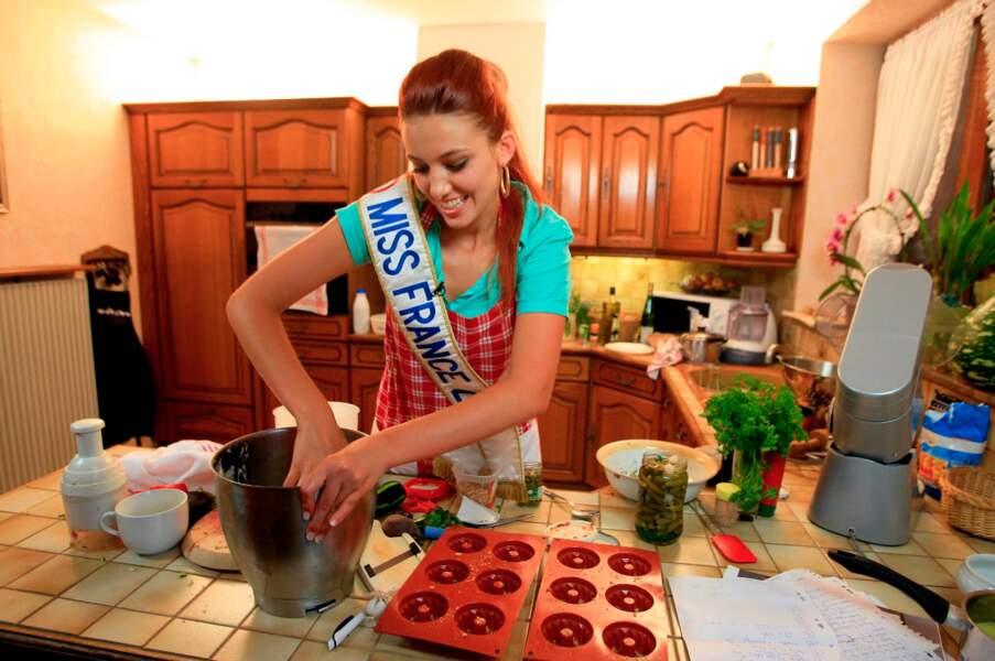 Miss France 2012 a mis la main à la patte dans Un dîner presque parfait