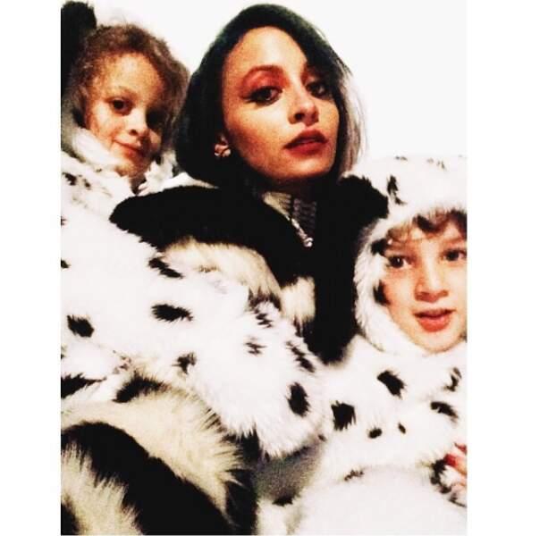 Nicole Richie s'est transformée en Cruella des 101 Dalmatiens