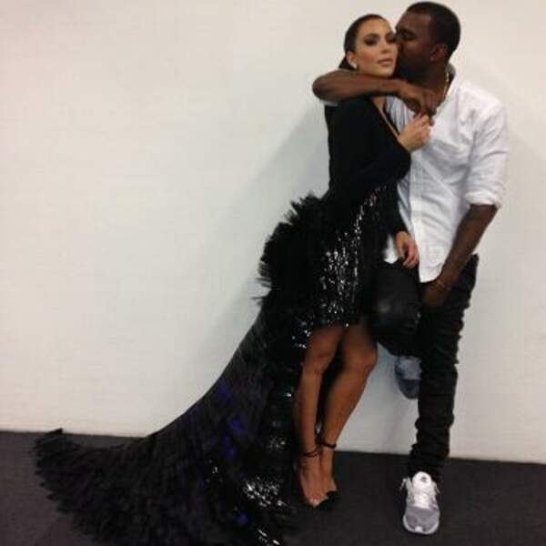 Moment de tendresse entre Kim Kardashian et Kanye West