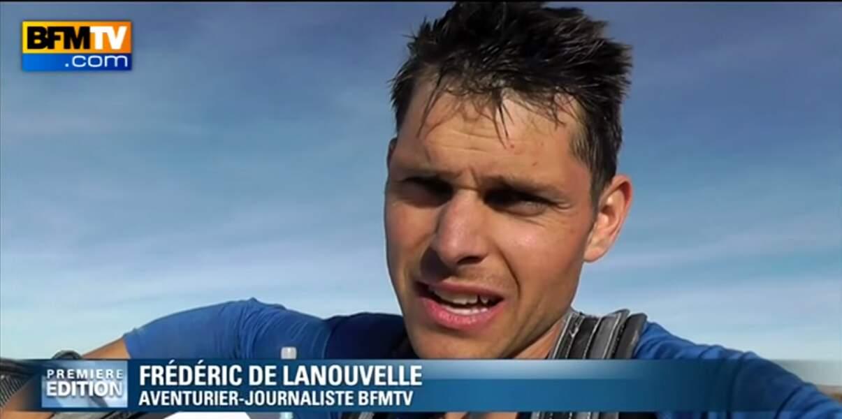 Présentateur et aventurier, Frédéric de Lanouvelle partage régulièrement ses exploits sportifs sur BFMTV