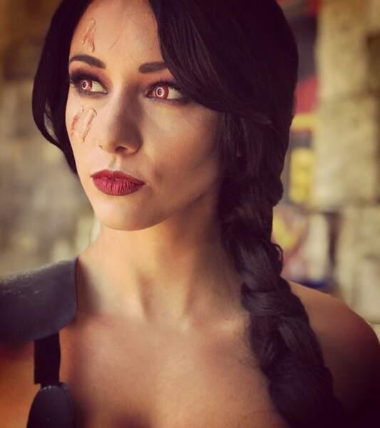 Delphine Wespiser, ancienne Miss France, devient Rouge, sur Fort Boyard