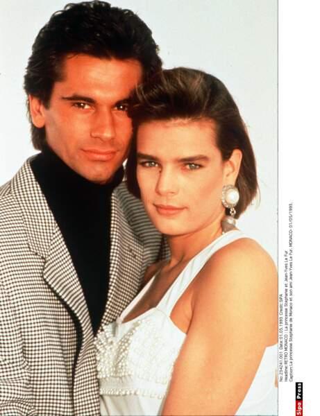 En avril 1990, elle se fiance avec Jean-Yves Le Fur, son compagnon depuis un an