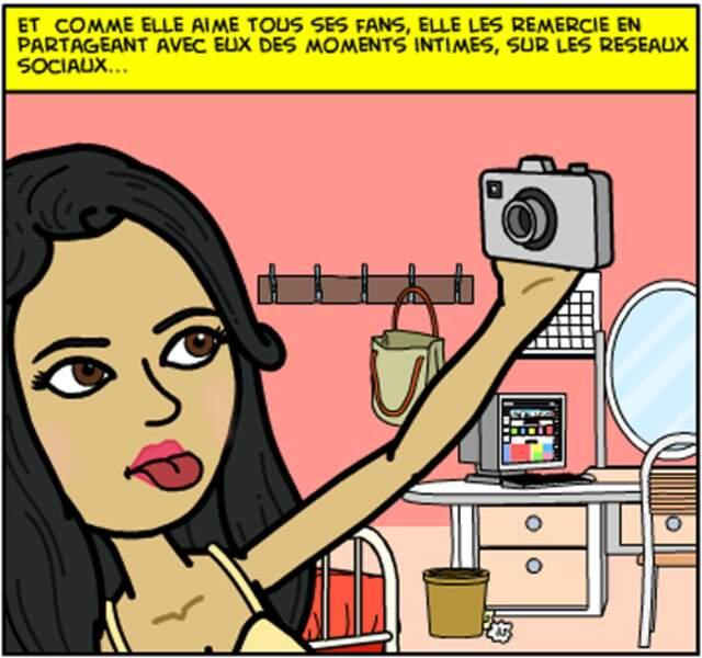 La vie de Nabilla en vignettes Bitstrips