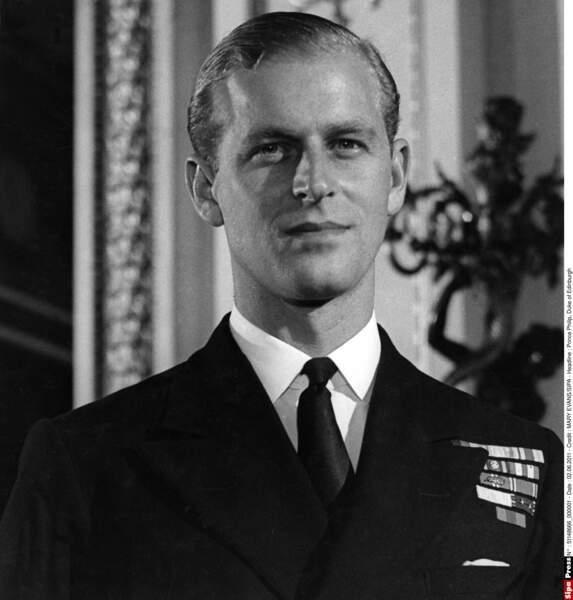Le prince Philip, né Philip Mountbatten, prince de Grèce et de Danemark