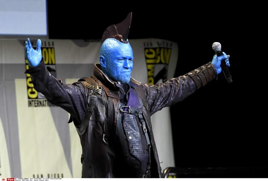 Michael Rooker n'a pas fait les choses à moitié : il est venu dans son costume de Yondu