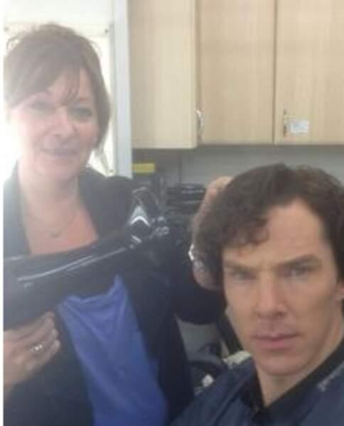 Un selfie avec sa coiffeuse pour Benedict Cumberbatch