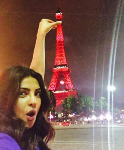 Priyanka Chopra, la star de Quantico, a fait un détour par Paris pour promouvoir la série sur M6