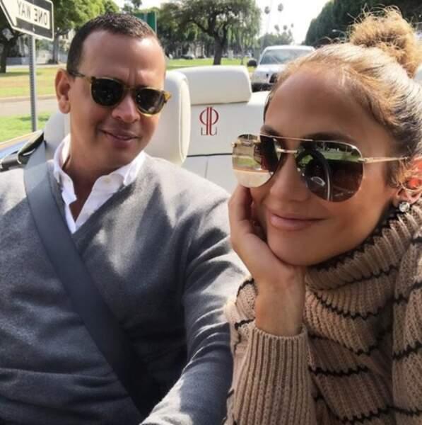 Le joueur de baseball Alex Rodriguez et la chanteuse Jennifer Lopez.