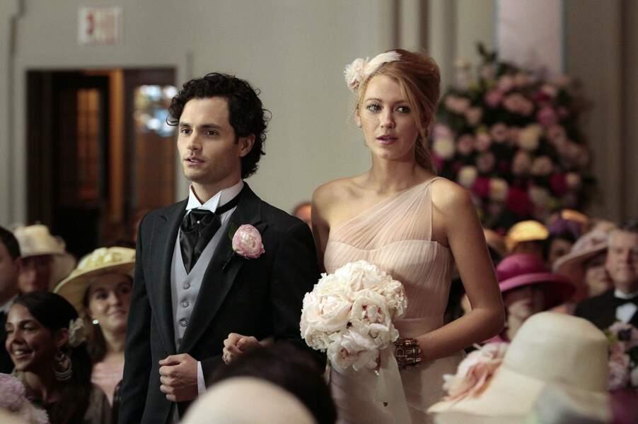 Et dans la série, c'est la belle Serena qu'il fait craquer. Ils se marient après moult rebondissements.