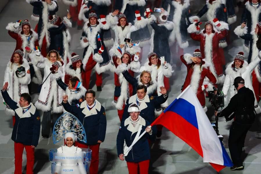 Et on termine le défilé par... les Russes, bien sûr !