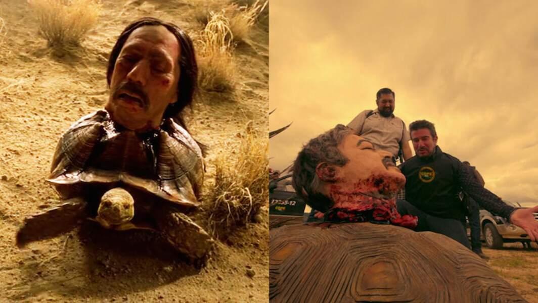A gauche, un budget effets spéciaux et la tête de Dany Trejo. A droite... moins de budget.