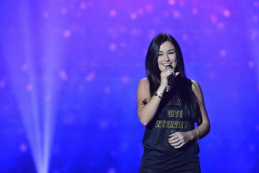 Victoria Adamo, 16 ans, talent de l'équipe de Jenifer