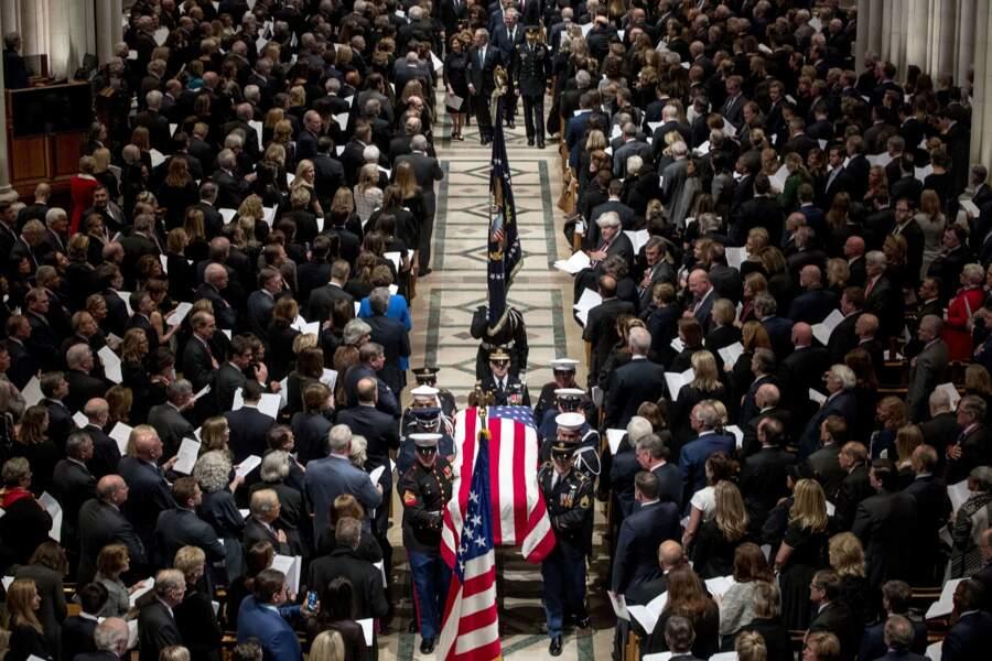 Les obsèques de George H. W. Bush se tenaient mercredi 5 décembre à la Cathédrale nationale de Washington