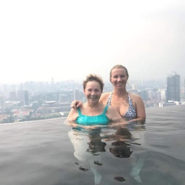 Svetlana Kuznetsova a profité de ses vacances pour passer quelques jours avec sa maman