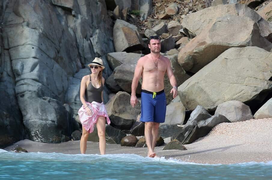 Les acteurs amoureux Naomi Watts et Liev Schreiber en vadrouille.