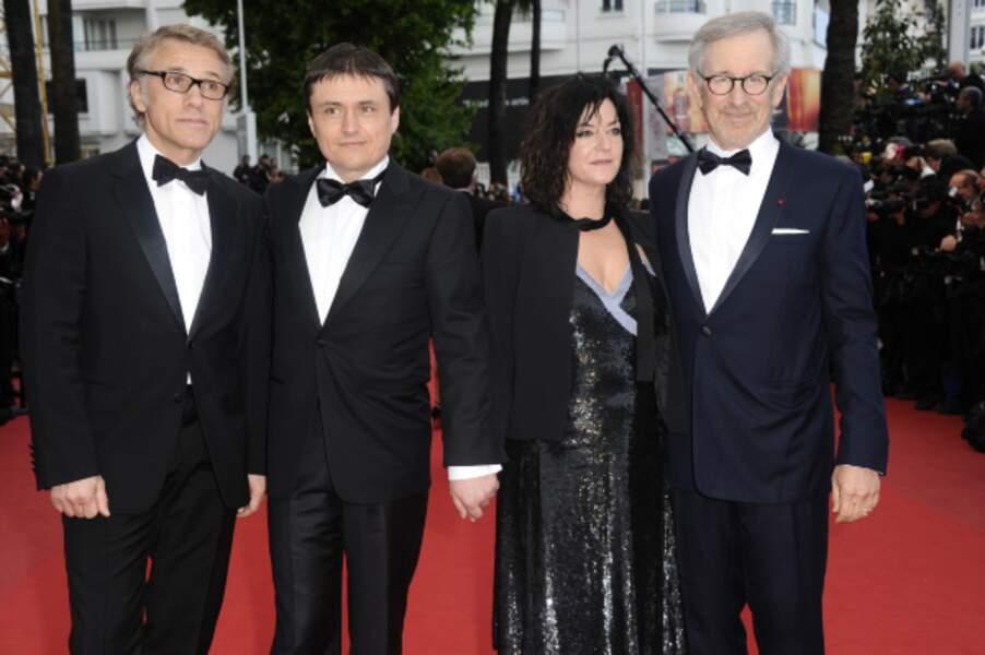 Quatre des membres du jury : Christoph Waltz, Christian Mungiu, Lynne Ramsay et Steven Spielberg