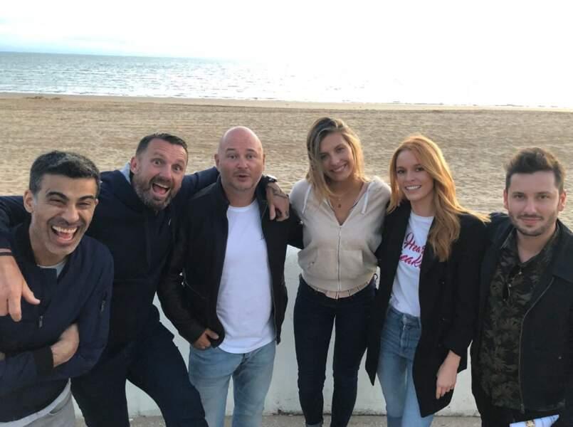 Pascal de Koh-Lanta avec Cauet, Miko, Camille Cerf, Maëva Coucke et Maxime Guény