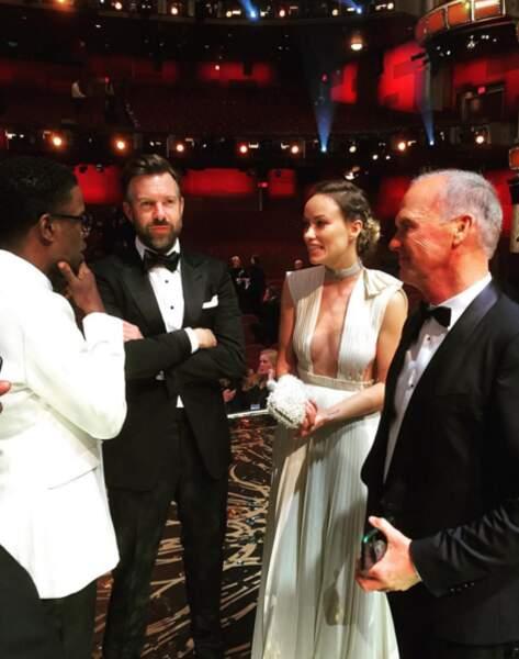 Chris Rock en pleine discussions avec Jason Sudeikis, Olivia Wilde et Michael Keaton