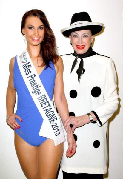 Cynthia Delage, Miss Prestige Bretagne 2013 avec Geneviève de Fontenay