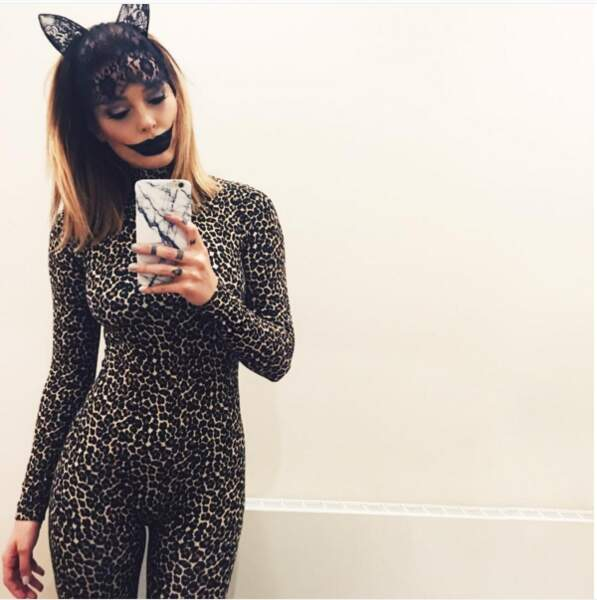 Pour Halloween, elle a sorti le grand jeu.