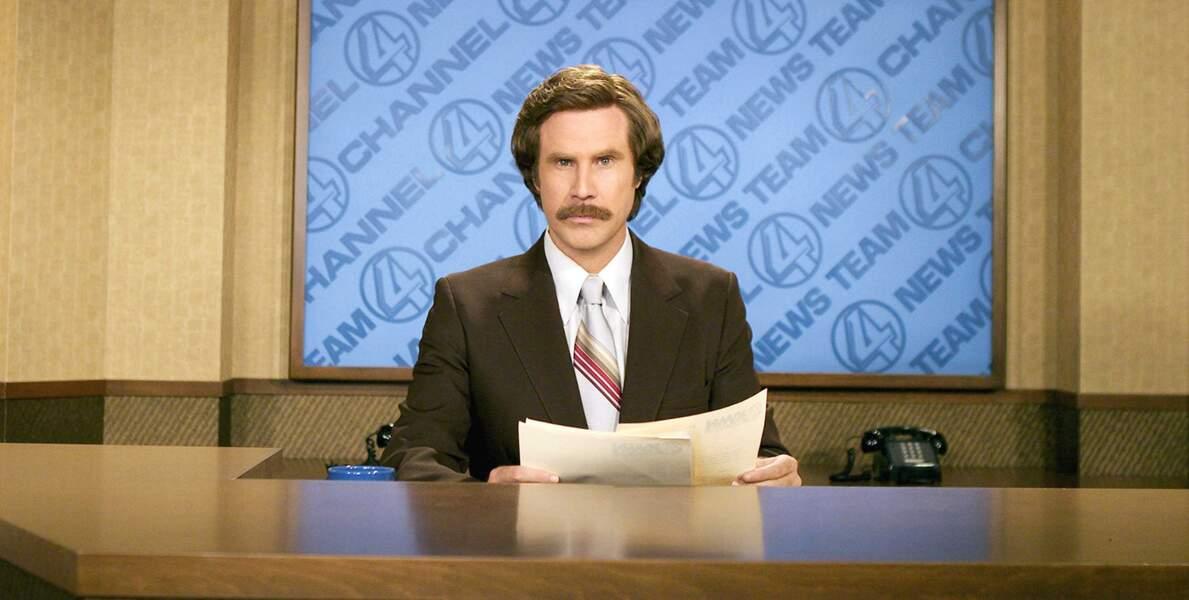 Attention culte ! La moustache de Will Ferrell dans Anchorman : la légende de Ron Burgundy