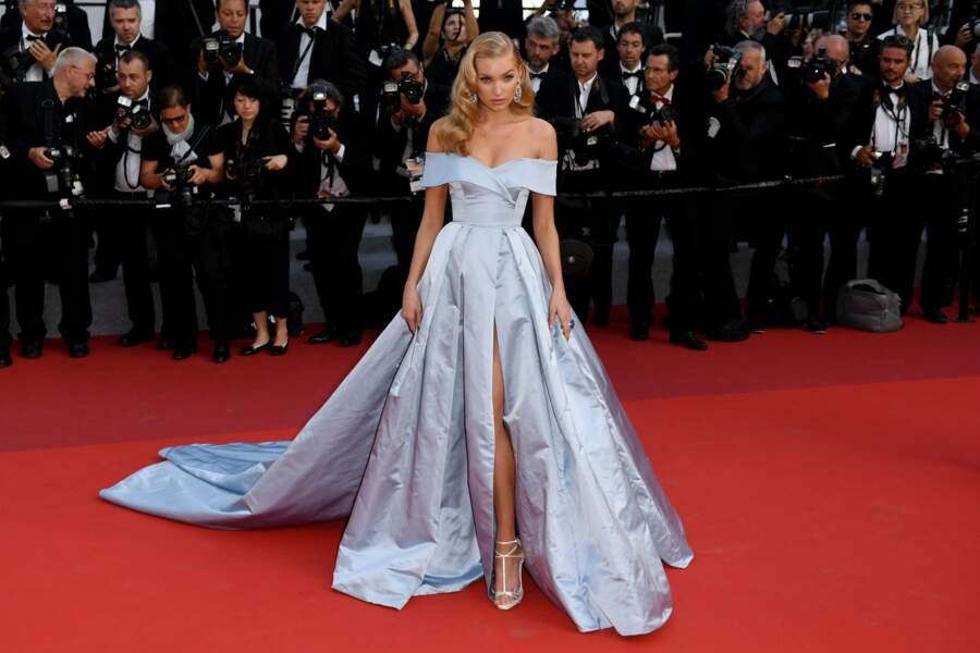 Le mannequin suédois Elsa Hosk ne voulait pas louper le tapis rouge du film Les proies !