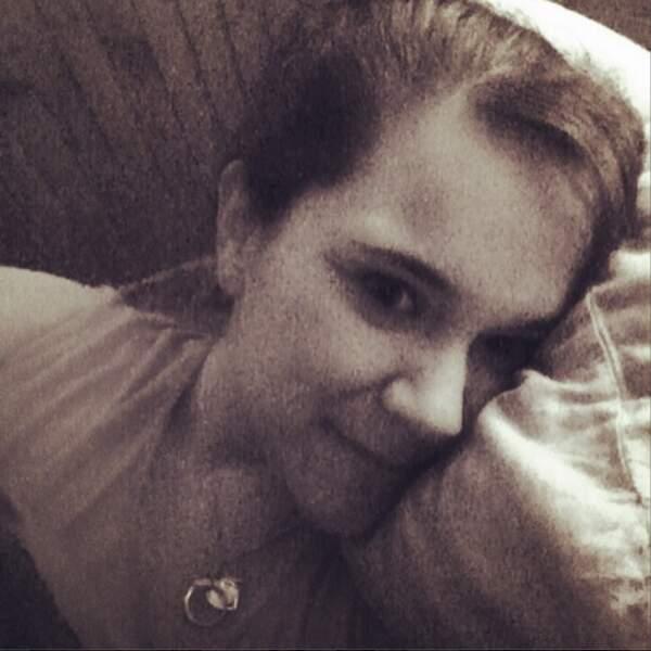 Magalie Vaé a, elle, osé le selfie avant de s'endormir